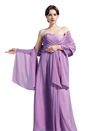 56519c105a1 Women s Chiffon Shawl Scarves Stole Wrap for Bridesmaids Wedding Party  Evening Dress