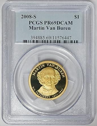 2008S PCGS PR69DCAM proof Van Buren dollar rare Signature Edition