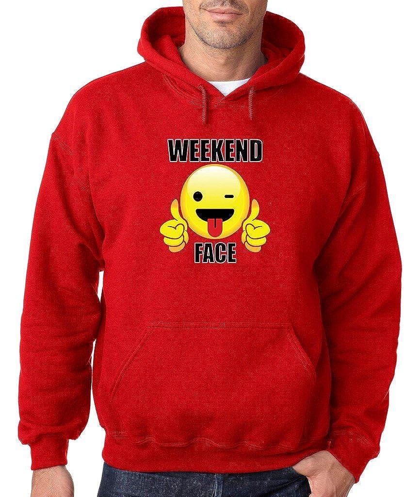 VISHTEA Sunday Funday Weekend Face Hoodie I Love Weekends Sweatshirt
