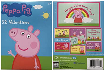 Peppa Pig 32 Fold And Seal Valentine Day Cards