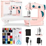 Magicfly Mini Sewing Machine for Beginner, Dual Speed Portable Children Sewing Machine with Extension Table, Light, Sewing Ki
