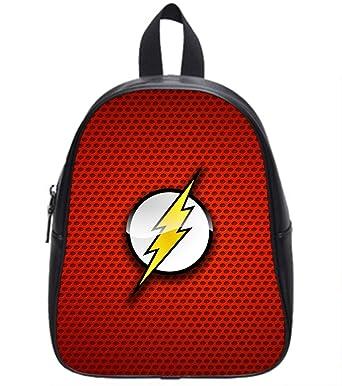 3aa124cf4c8 High-Grade Soft PU Leather Backpack Shool Bag The Flash Logo Print.-Large