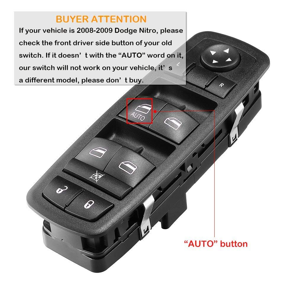 Jeep Liberty Driver Side Master Power Window Switch for Jeep Journey Dodge Nitro 08-12