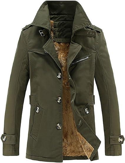 [アルファーフープ] メンズ 裏 起毛 ボア トレンチ コート ジャケット アウター フード 無し 冬服 冬物 長袖 COT-3