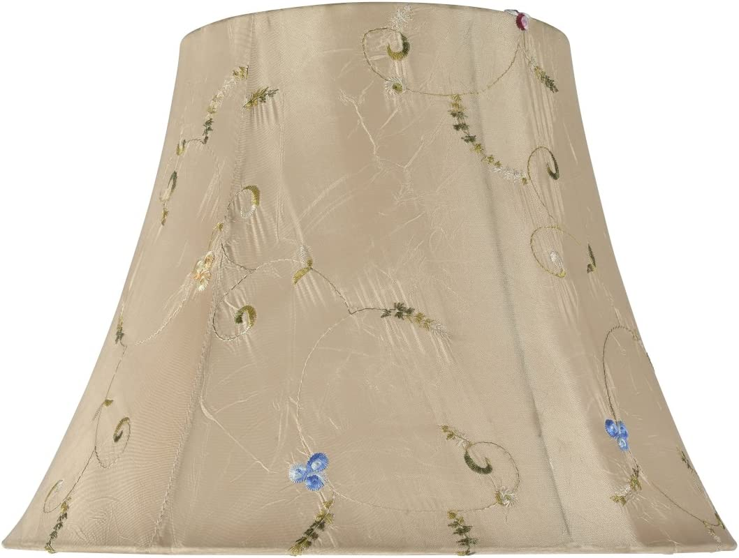 Aspen Creative 30017 Transitional Bell Shape Spider Construction Lamp Shade in Gold, 13