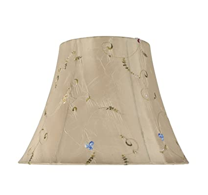 """45db556401c2 Aspen Creative 30017 Transitional Bell Shape Spider Construction Lamp Shade  in Gold, 13"""" wide"""