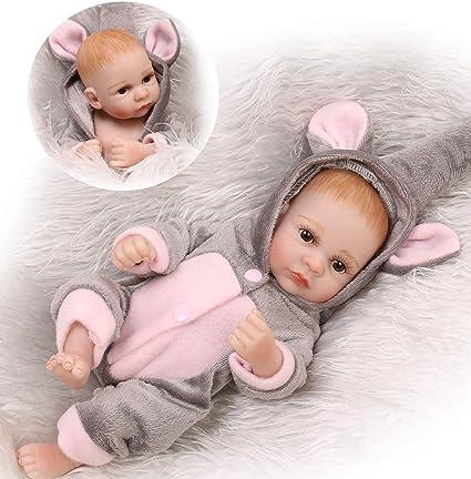 "10/""Lifelike Handmade Reborn Baby Dolls Full Body Silicone Gift Anatomically Girl"