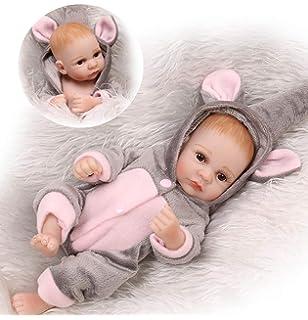 "Newborn 3.46/"" Full Body Resin Handmade  Lifelike Bath Toy"