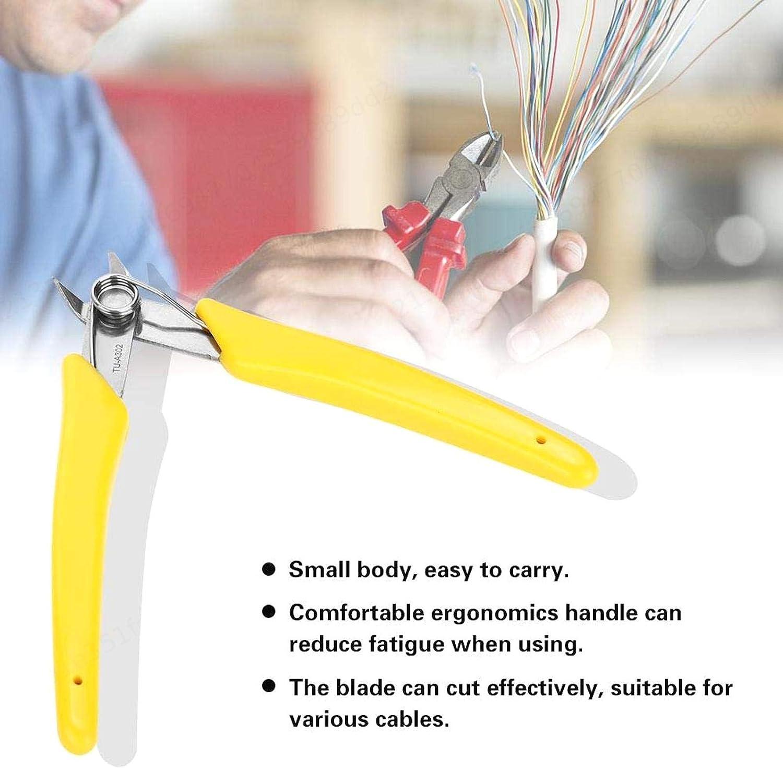 5 Pulgadas LIUSHUI Pinzas de Corte Amarillas Cortador de Alambre Alicates diagonales electr/ónicos Herramienta Lateral de Cable