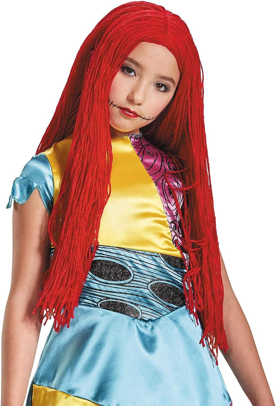 Disney Sally Nightmare Before Christmas Girls' Wig: Toys & Games
