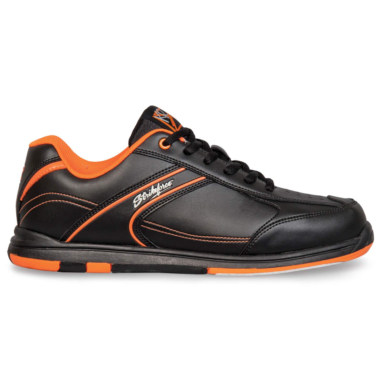 Strikeforce Flyer Black/Oragne Bowling Shoes Men's Size 10 by KR Strikeforce (Image #2)