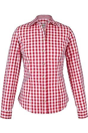 neue niedrigere Preise vielfältig Stile süß billig Almsach Damen Trachten-Bluse rot-weiß kariert 'Maria', rot,