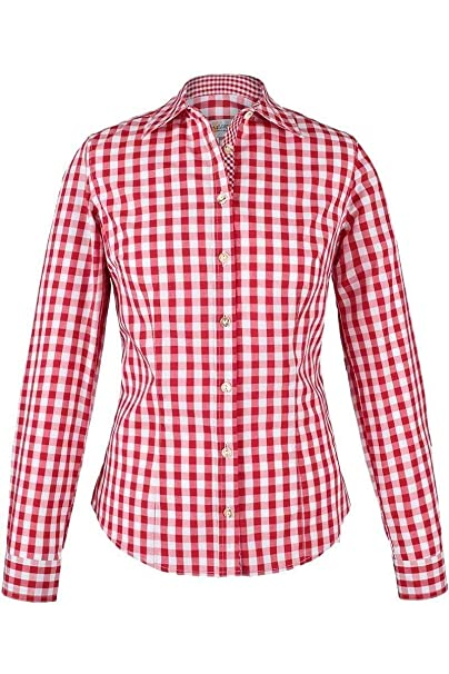 Rabatt bis zu 60% Entdecken Sie die neuesten Trends Sonderpreis für Almsach Damen Trachten-Bluse rot-weiß kariert 'Maria', rot,