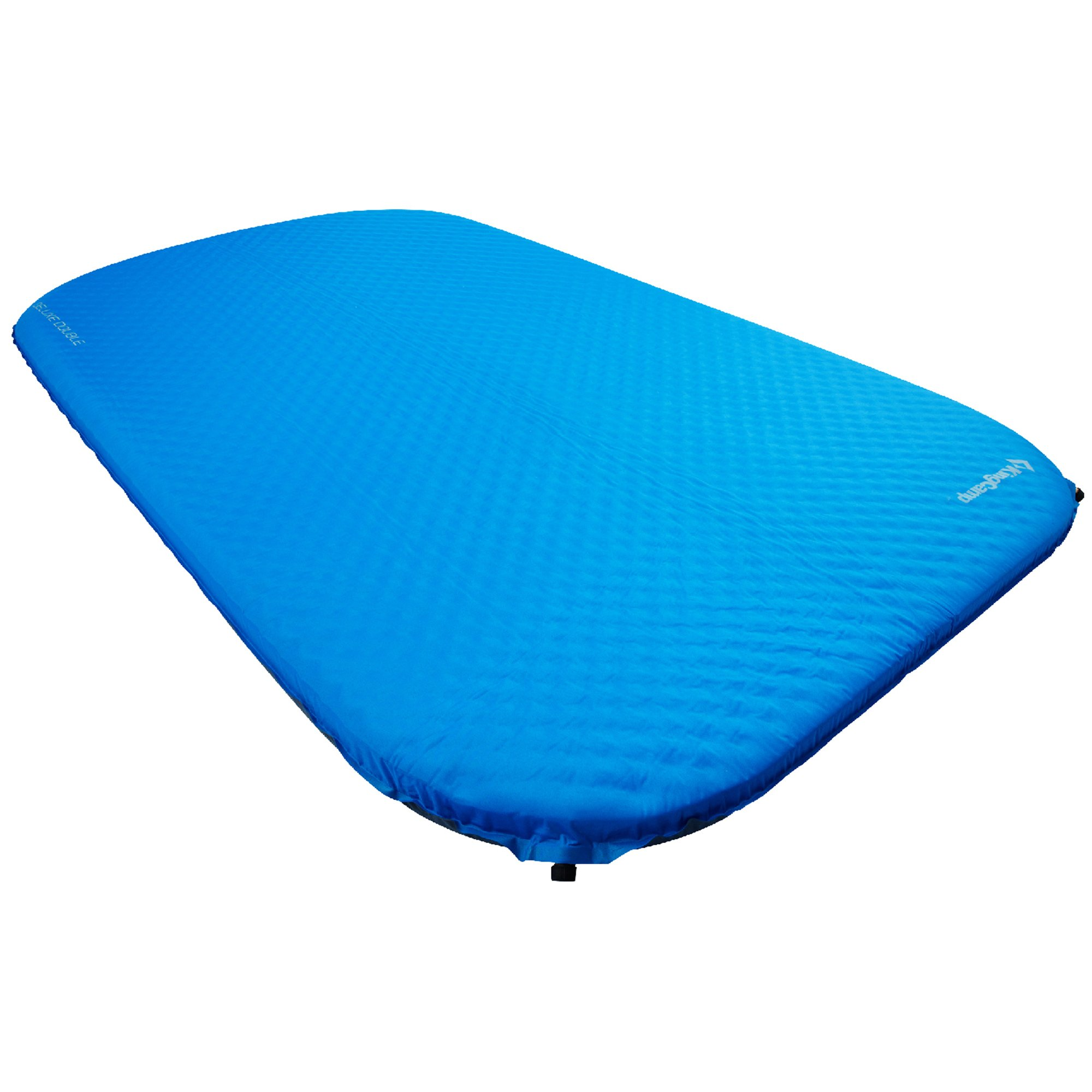 KingCamp Camping Double Sleeping Pad Foam Mat Mattress - Self Inflating Thick Pad with Carry Bag, Suitable for Traveling Hiking Family Outdoor Activities (Blue-Deluxe Double) by KingCamp