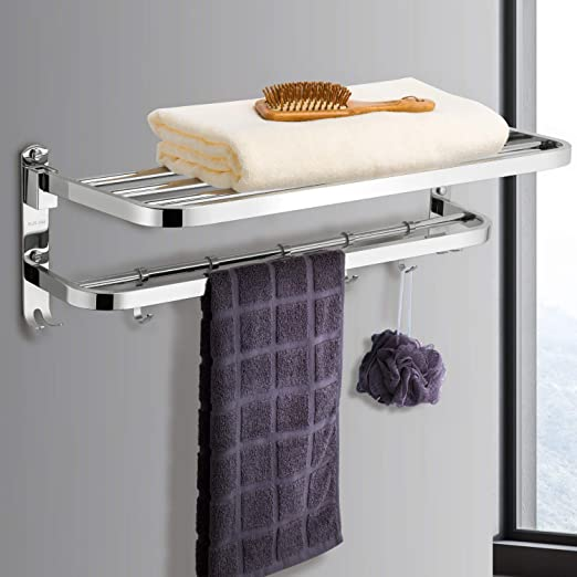 23.6inch Double Towel Bar Rack for Bathroom Chromed Stainless Steel Wall Mount