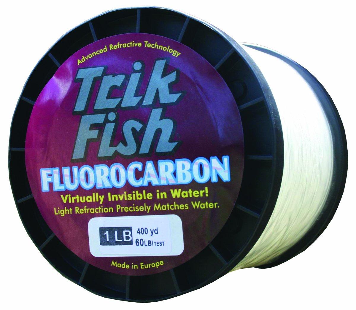 Trik Fish FCB06001 Fluorocarbon 1-Pound Spool 60-Pound, 400-Yards