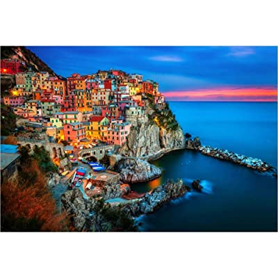 Adult Wooden Puzzle 500 1000 1500 2000 Pieces - Sunset in The Cinque Terre of Italy, Jigsaw Puzzle Toy Unique Gift for Adult and Kid,DIY Home Decor Art (Size : 1500 Pcs): Toys & Games