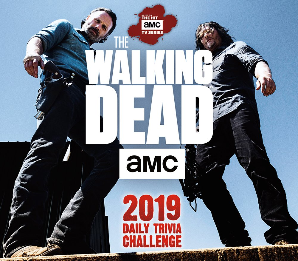 AMC The Walking Dead Daily Trivia Challenge 2019 Boxed Daily Calendar by BrownTrout Publishers