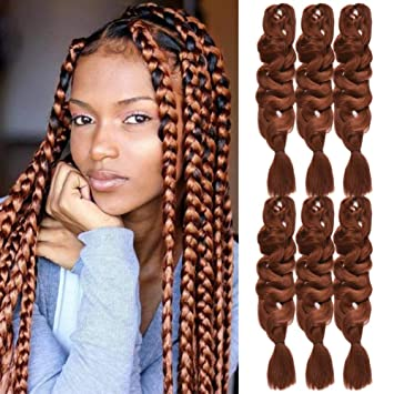 Amazon Com Instastyle Afro Box Braiding Hair Crochet Kinkys Twist Medium Auburn Color 30 Premium Kanekalon Fiber 84 Inch Pressions Ultra Jumbo Synthetic Box Braids Crochet Hair 6 Pack 165 Gram Pack Beauty