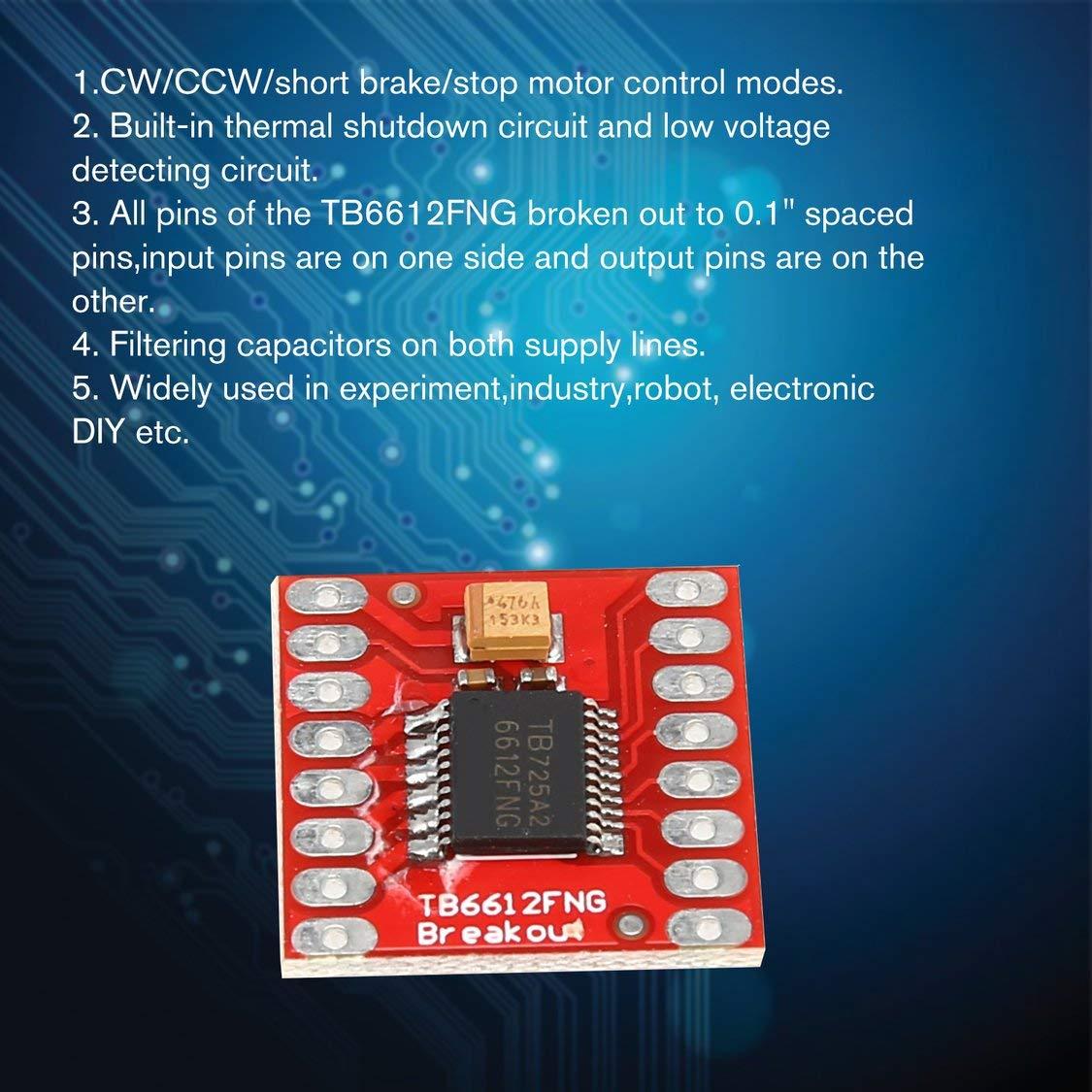 TB6612FNG M/ódulo de placa de escudo de expansi/ón de control de motor paso a paso de CC para microcontrolador Arduino mejor que L298N