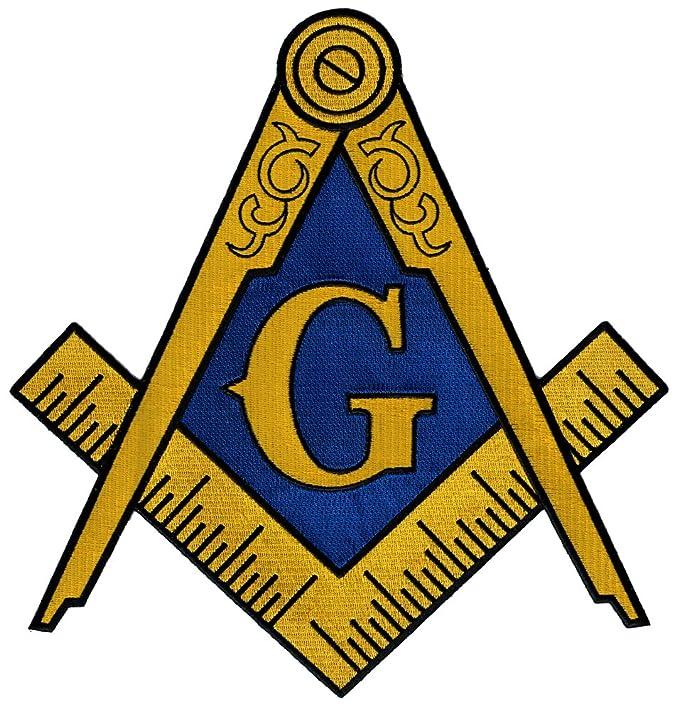 Amazon Masonic Logo Large Patch Embroidered Iron On Freemason