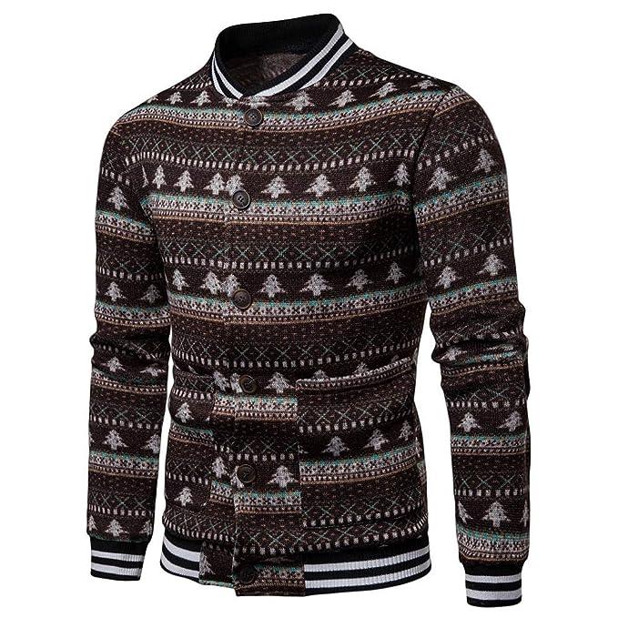 Camisa Hombre Manga Larga Estampada,Modaworld Camisa De Navidad para Hombre Casual Otoño Camisa De Navidad Hombres Camisa De Manga Larga con Estampado ...