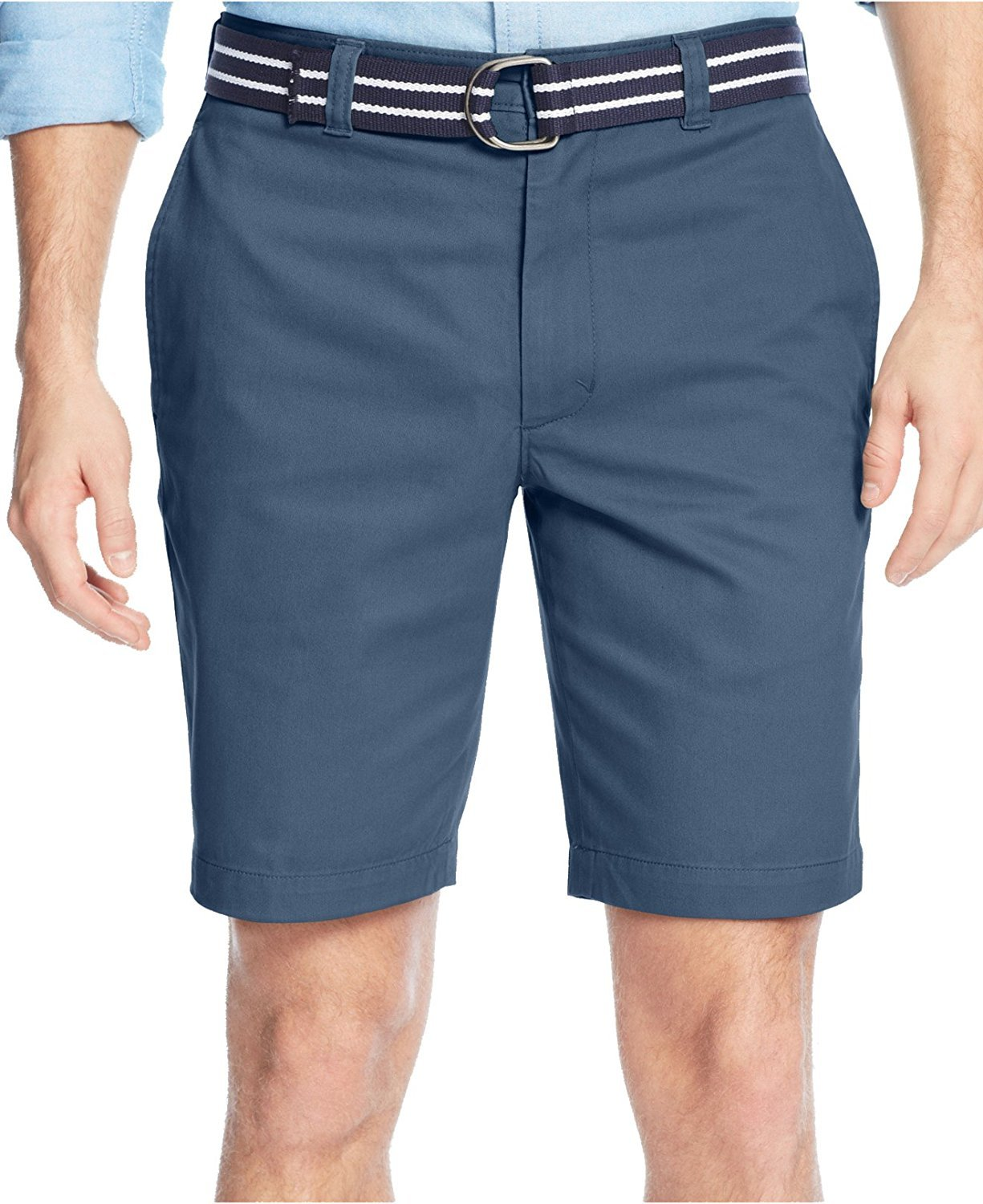 Club Room Men's Estate Belted Flat-Front Shorts (36, Riviera)