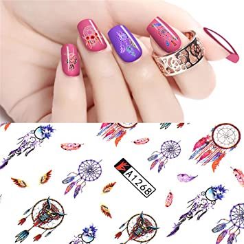 Amazon Nail Art 3d Sticker Owl Dream Catcher Feather Butterfly