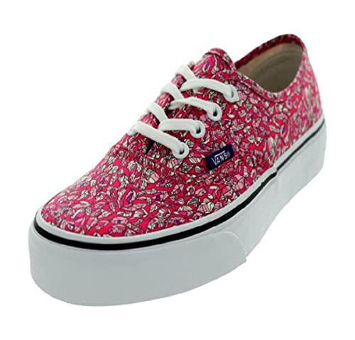 Amazon.com: Vans Authentic Liberty Hojas, color rosa Skate ...