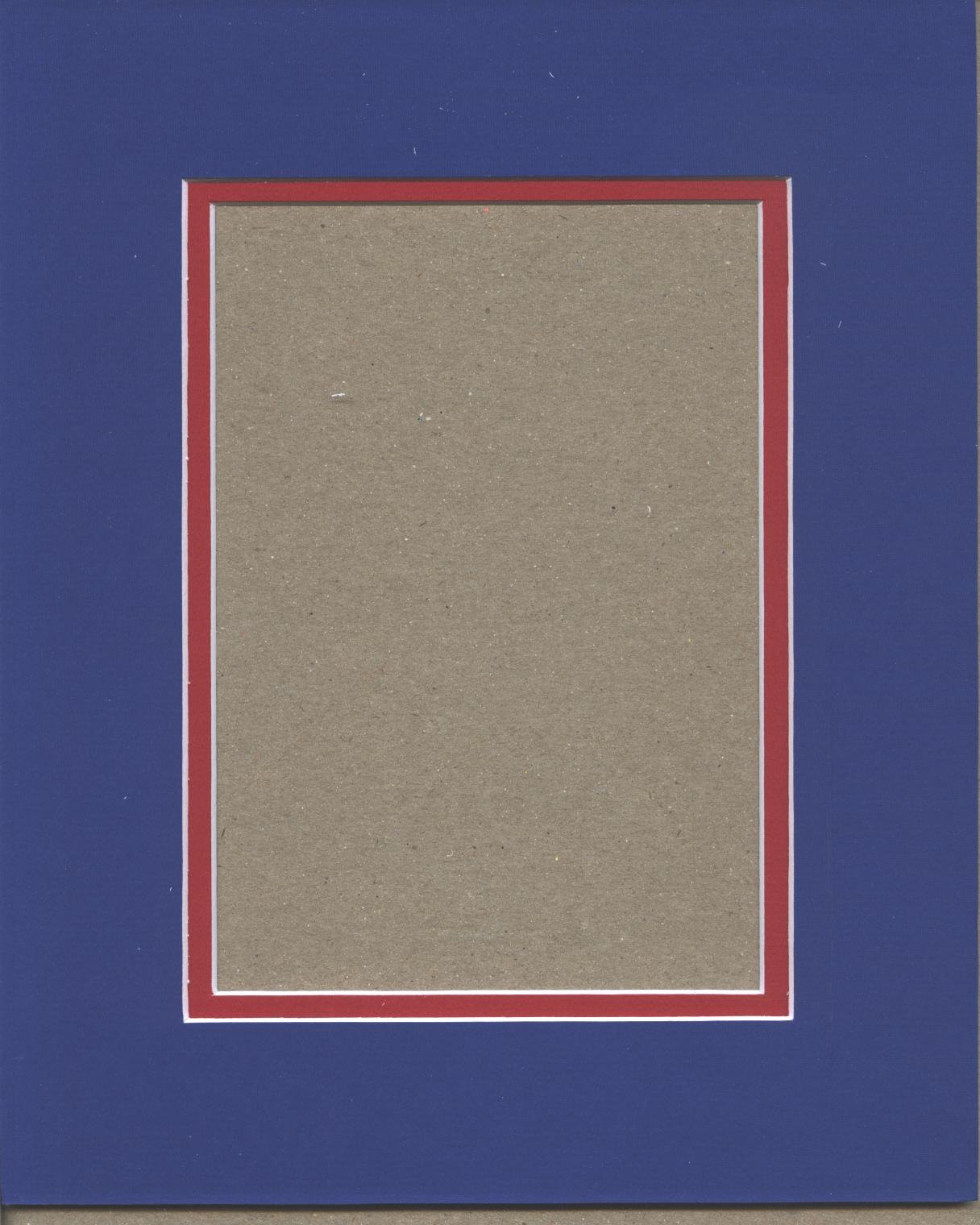 16x20 Royal Blue & Bright Red Double Picture Mat, Bevel Cut for 11x14 Picture or Photo by bux1 picture matting