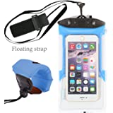 iPhone 7 Waterproof Case with Foam Float Strap,TitanFan Sensitive PVC Touch Screen for iPhone 7 iPhone 6/6S Plus iPhone 7 Pro,iPhone 7 Plus All 4.7inch-6 inch Smartphones (Blue)
