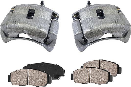 4 Quiet Low Dust Ceramic Brake Pads 2 Callahan CCK02357 REAR Premium Loaded OE Caliper Assembly Set +