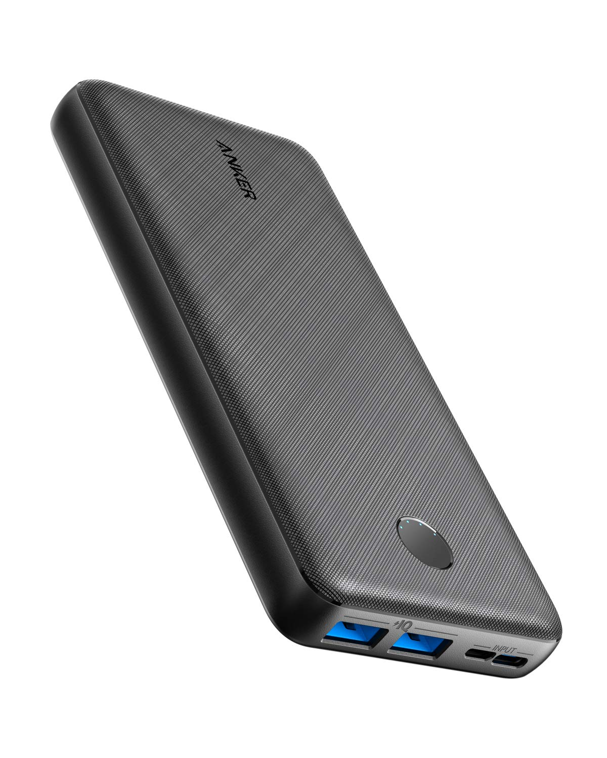 Anker PowerCore Essential 20000 Portable Charger, 20000mAh Power Bank with PowerIQ Technology and USB-C Input, High-Capacity External Battery Compatible with iPhone, Samsung, iPad, and More. by Anker