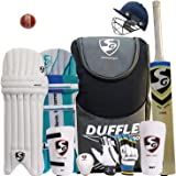 SG Full Cricket Kit with Duffle Bag and Spordy Brand Ball(with helmat)
