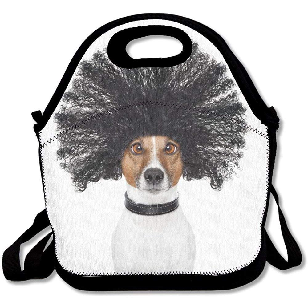Bad Hair Day Dog Ready To Look Beautiful At The Wellness Spa Salon Isolated On White Background Unique Lunch Tote Lunch Bag Outdoor Picnic Reusable
