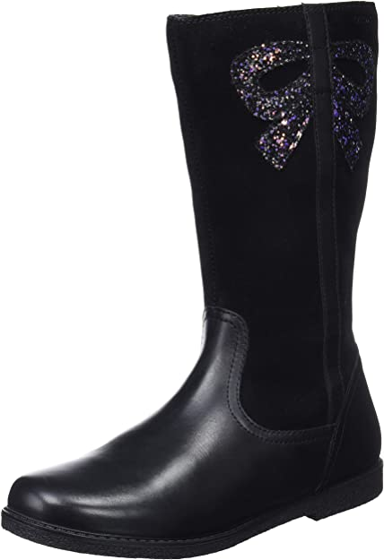 Geox J Shawntel A, Bottes Hautes Fille