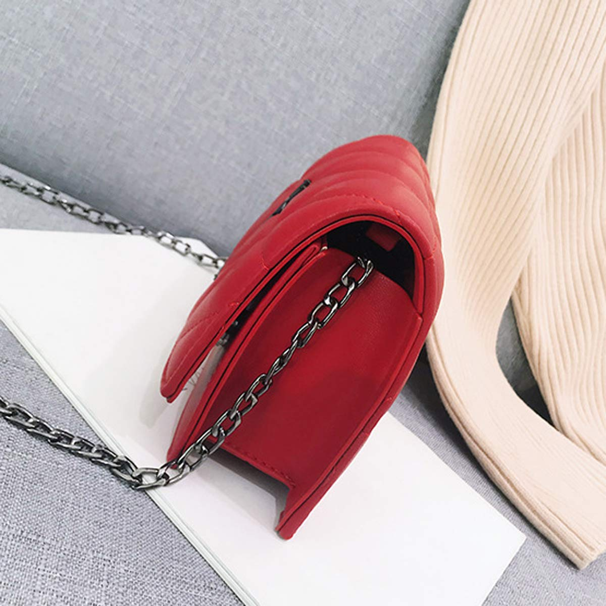 Tasche weiblich Europa und die Vereinigten Staaten neue feste Farbe Yang Shulin Stickerei Linie kleine quadratische Tasche Super Feuer M/ädchen Mode wild Messenger Bag Rosa, 20 * 14 * 7cm