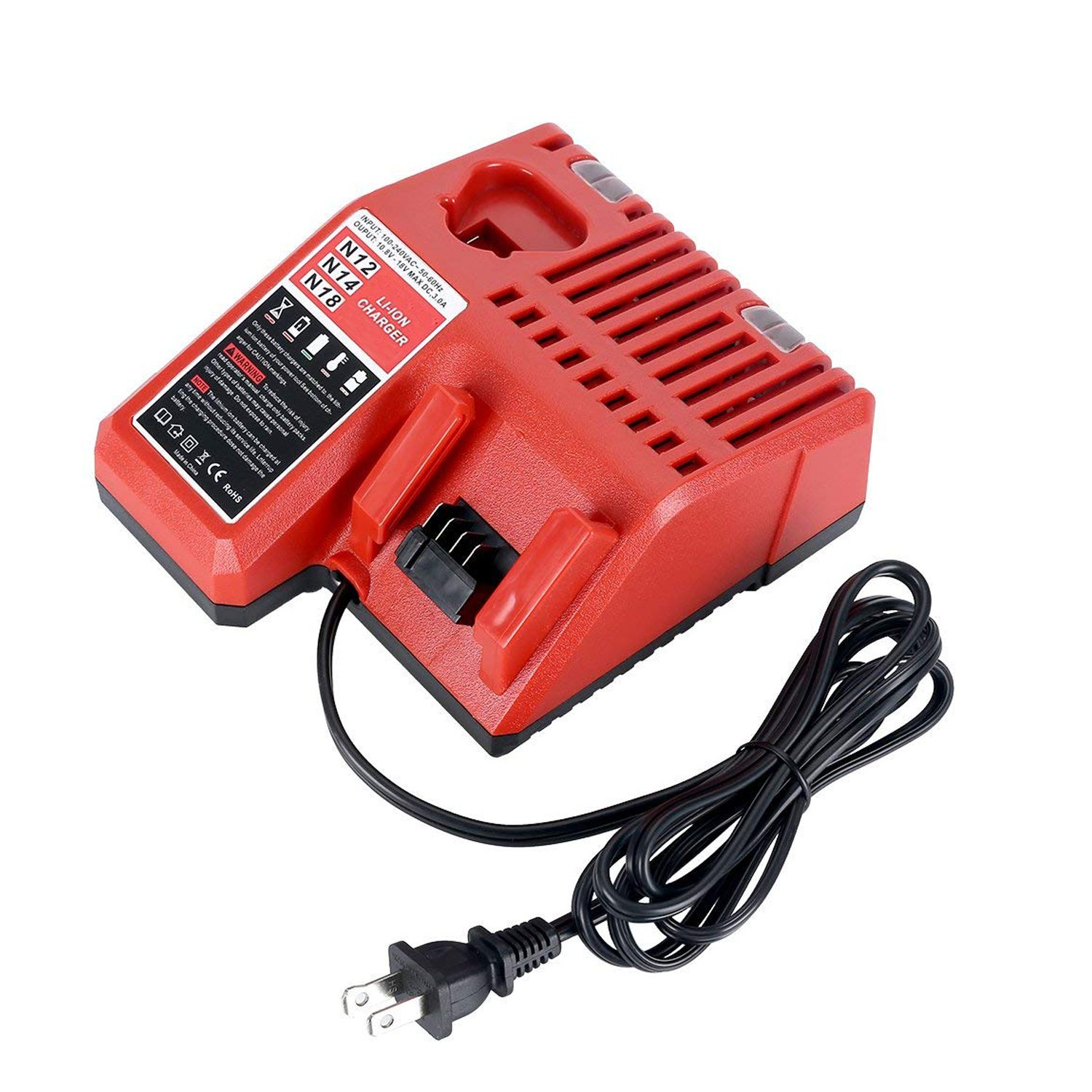 replacement multi voltage charger for milwaukee 48 59 1812 m12 m18 rh amazon com