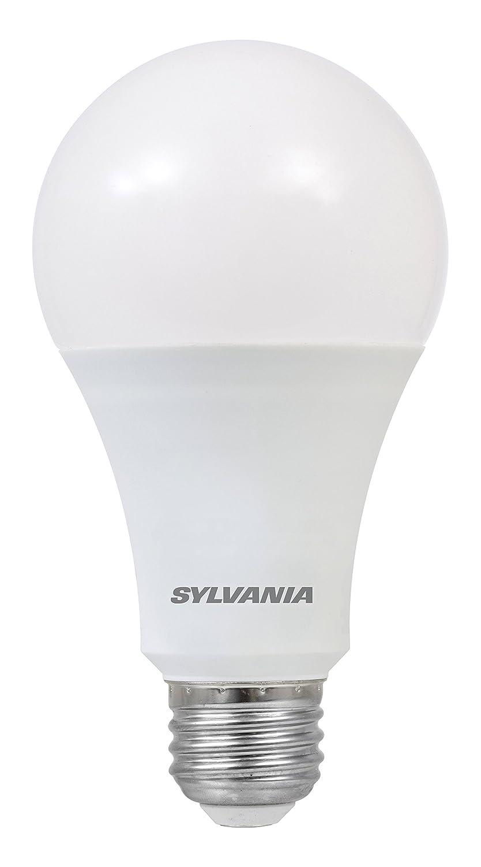 Sylvania Home Lighting 73190 Sylvania Dimmable Led Light Bulb, 16 W, 120 V, 1600 Lumens, 3500 K, CRI 80, 2-5/8 in Dia X 5.15 in L Bright White 4 Piece ...