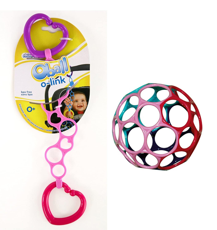 Oball Set Oball pink mit O-Link pink für Mädchen in rosa Rhinotoys 81024+81055