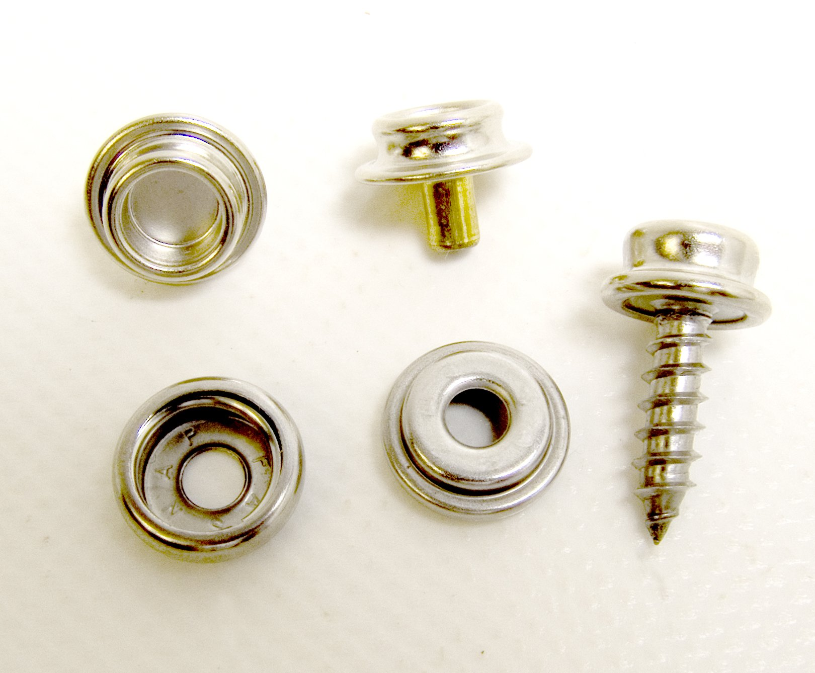 Gypsy Stud / Double Stud ⅜'' Snap Stud w/ ⅝'' Snap Screw Stud 10 Piece Set- Ships from The USA!