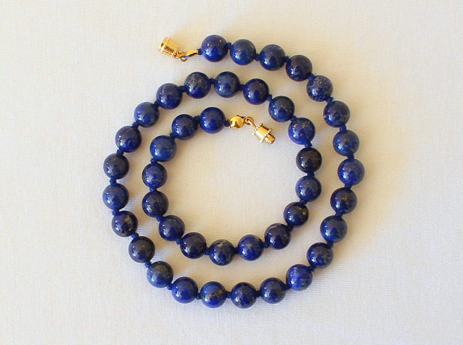 Natural Lapis Lazuli Necklace 8mm 16 inches