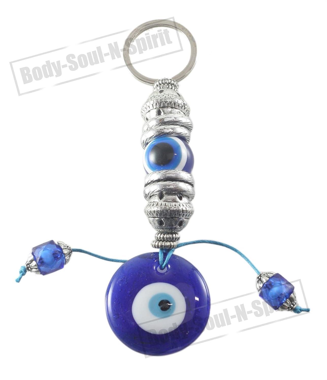 Lucky azul mal de ojo griego Turco ojo llavero anillo ...