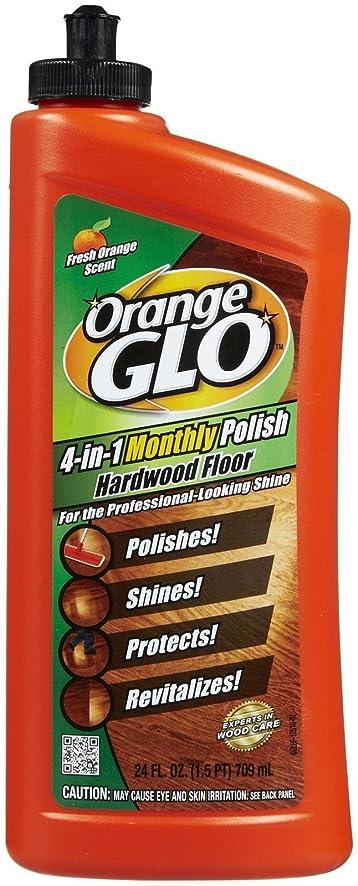 Orange Glo 4 In 1 Hardwood Floor Polish   Orange   24 Oz