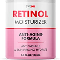 Natural Retinol Cream for Face & Neck - Day & Night Cream for Women Anti-Aging - Best Retinol Face Cream with Firming Effect - Premium Wrinkle Cream for Face, 3.4 oz