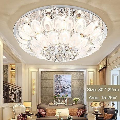Lámpara de Techo LED Crystal Chandelier Habitación Moderna y ...