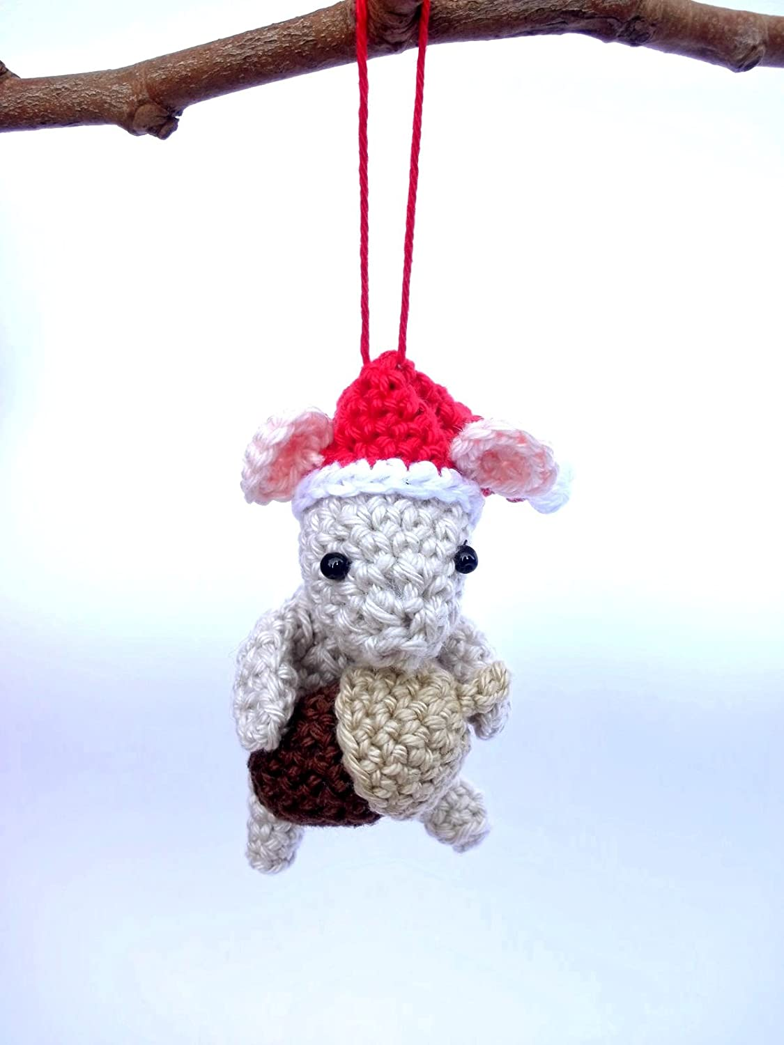 Christmas Mouse.Amazon Com Christmas Mouse Ornament Crochet Christmas