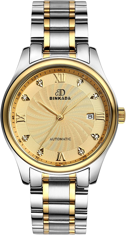 BINKADAファッション3ポインタ自動機械ゴールドダイヤルメンズ腕時計# 7001 m01 – 5 B01DZKLQOK