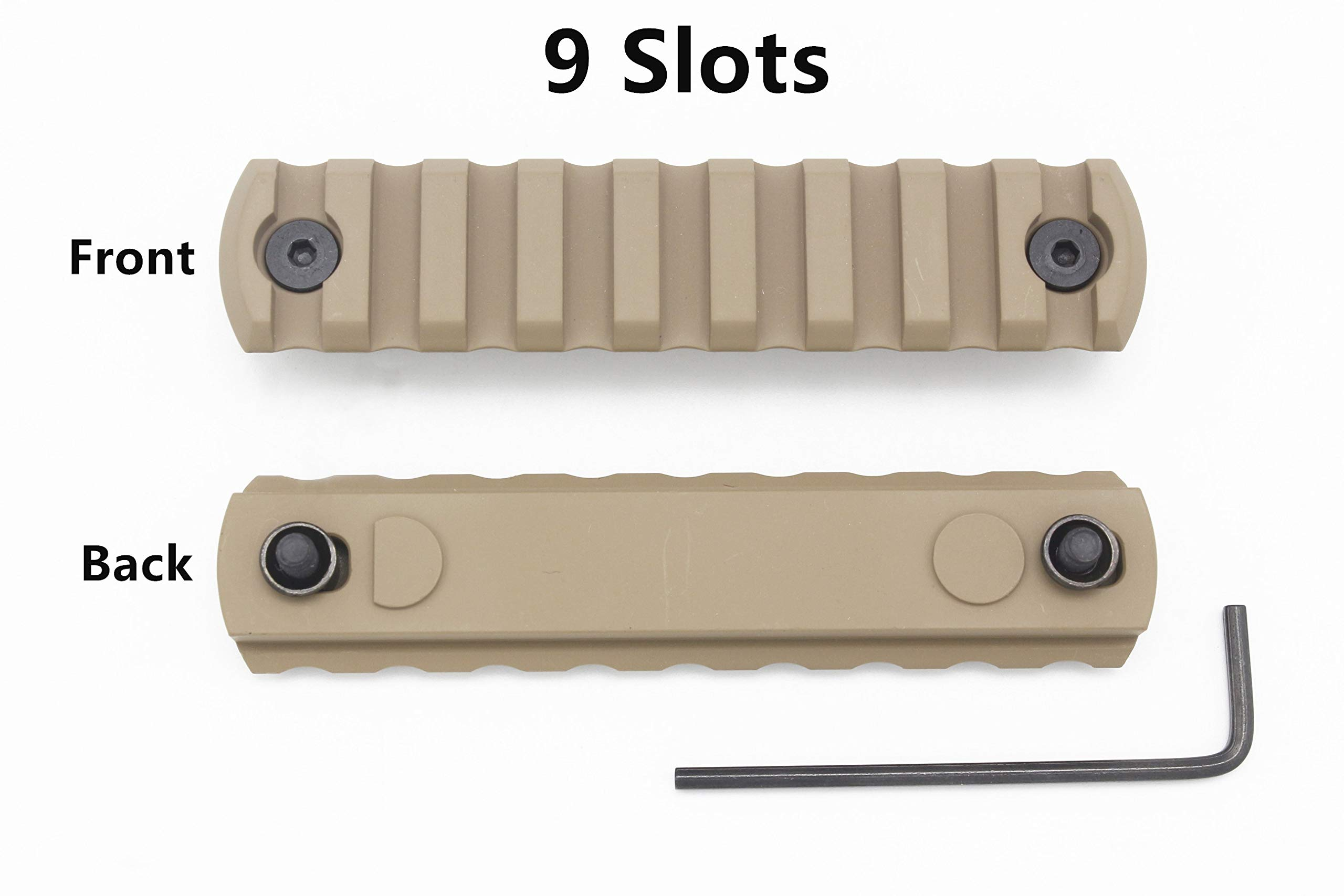 Active-8 Keymod Picatinny Rail, 9-Slot Lightweight Aluminum Weaver Rail Section Accessories for Keymod Rail System by Active-8