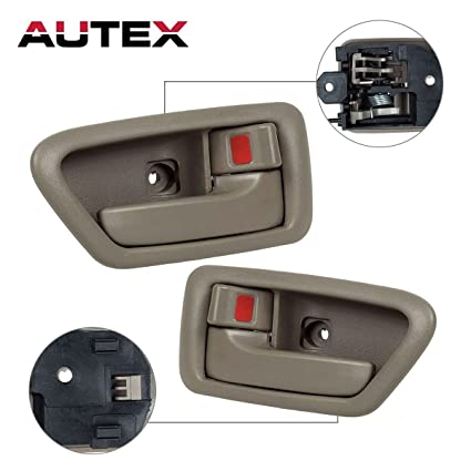 Amazon.com: AUTEX 91005/91004 Beige Interior Door Handle Front Rear ...